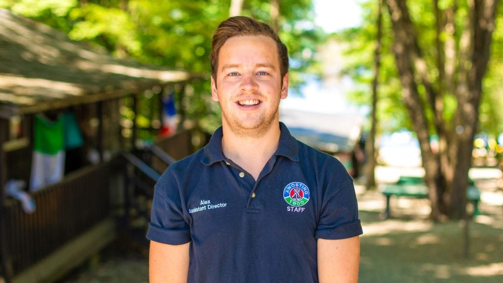 Alex Rawlinson, Assistant Director of Camp Awosting