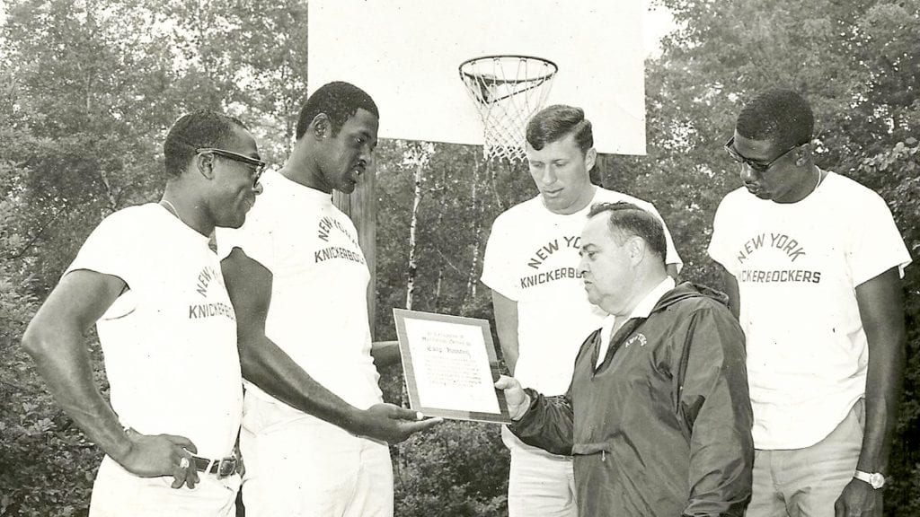 Historical photo of Awosting basketball award